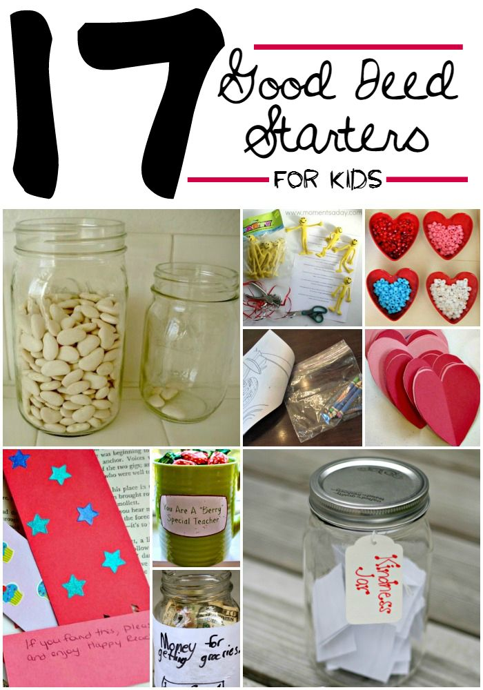 It's important to teach our kids how to be kind and think of others! These 17 good deed starters for kids are a great way for your kids to start helping...