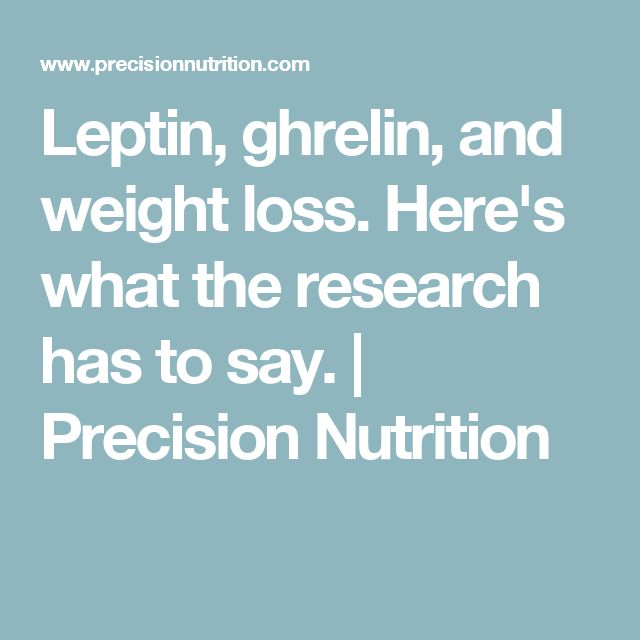 Leptin Diets More Information