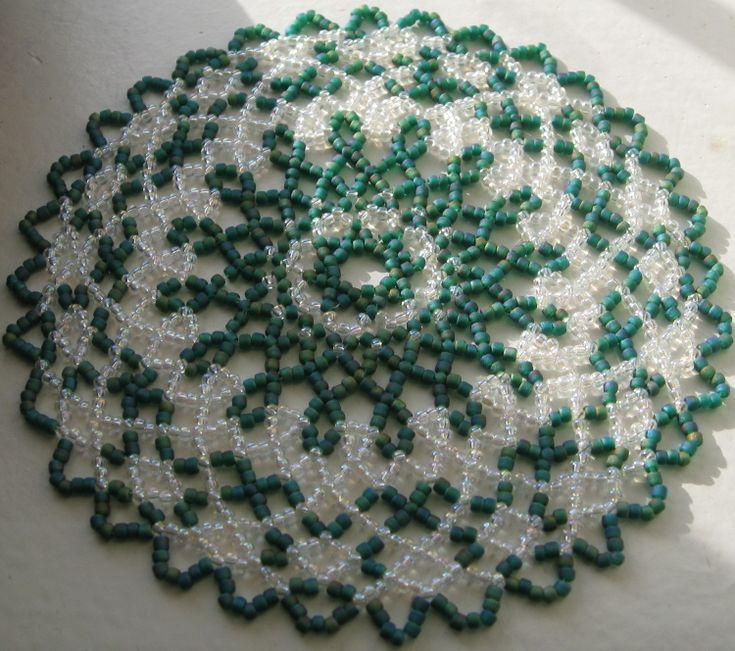 free seed bead patterns for doilies - Google Search