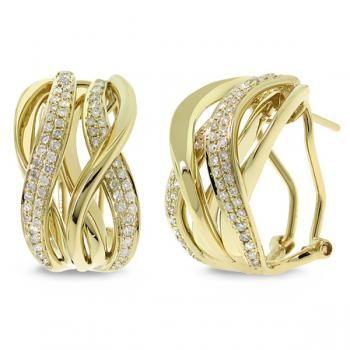 0.84ct 14k Yellow Gold Diamond Earrings - allurez.com