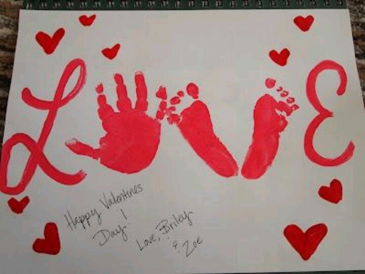 Cute Valentine's craft for parents.