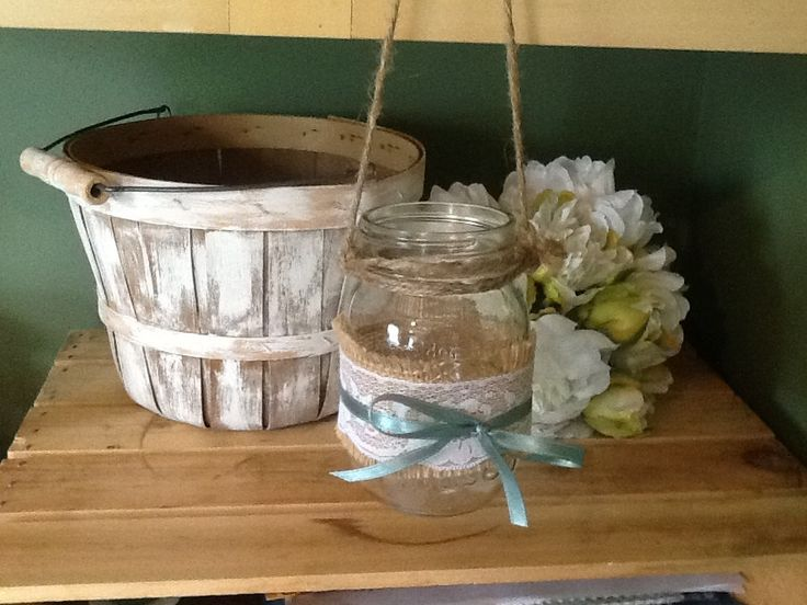 Hanging mason jar set of 10 barn wedding rustic by PineNsign, $70.00