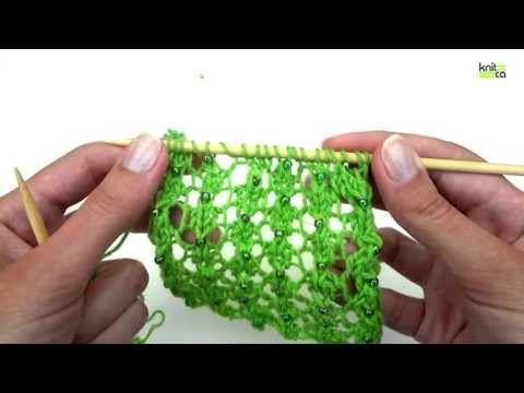 How to add beads to your knitting | Knitca™