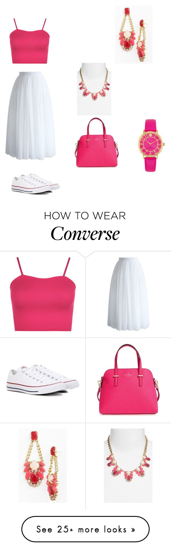 """""""Untitled #546"""" by nubianprincess1999 on Polyvore featuring Chicwish, WearAll, Converse and Kate Spade"""