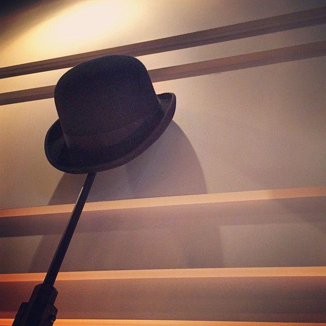 We found Charlie's hat! If you're curious to see it, it's hanging in our restaurant  #charliechaplin #charlie #restaurant #charlot #restaurants #foodie #style #ootd #fashion #hat #alteoper #opernplatz #frankfurt #germany #europe #classy #elegant #chic #delicious