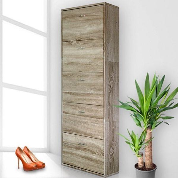 large shoe cabinet oak storage cupboard wooden shoe rack organizer case shoe box