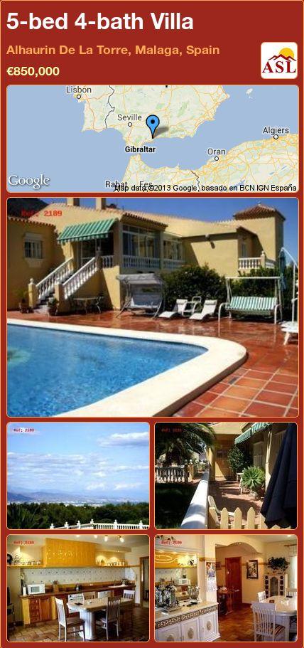 5-bed 4-bath Villa in Alhaurin De La Torre, Malaga, Spain ►€850,000 #PropertyForSaleInSpain