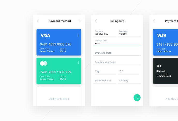 Dribbble - credit_card_ui_screens.jpg by Luboš Volkov