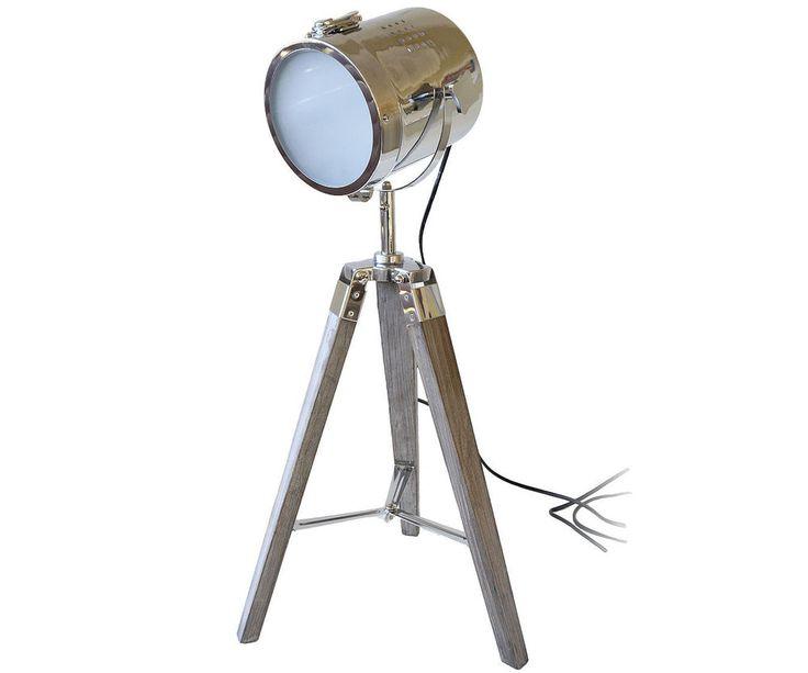 $53 Nautical Spotlight Tripod Table Lamp - Retro Theatre Style ...