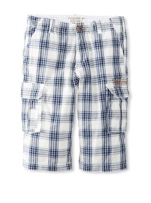 74% OFF Alpha Industries Boy's Justin Short (Navy Plaid)