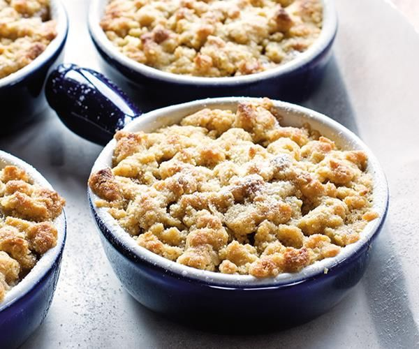 Apple and feijoa crumble recipe - By FOOD TO LOVE, A good crumble is a classic that everyone enjoys, especially when evenings are getting crisper, and comforting, warm desserts take over from lighter options. When the season is in full-swing, the addition of feijoa enlivens any good apple crumble.