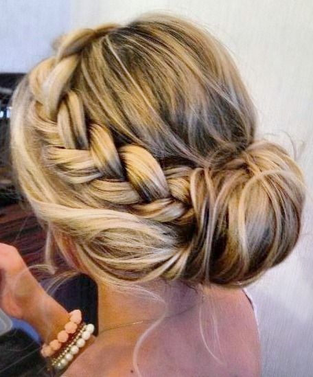 Side Braid Into Bun would go with any outfit this summer and would be sure to keep you cool!  - Brittanylanex