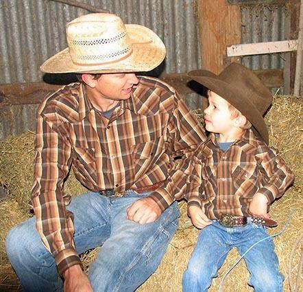 Mens Check Western Shirt | Long Sleeve Snap Button Shirt