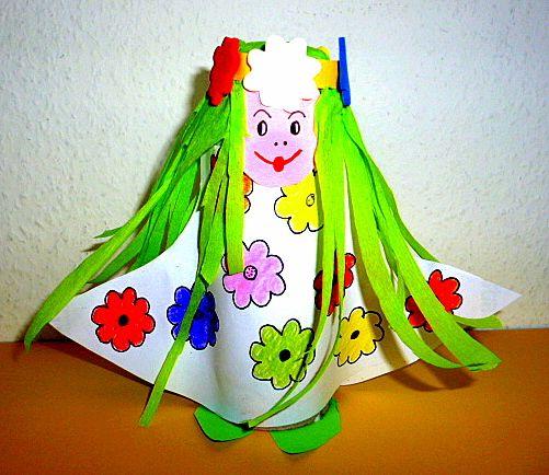 Blumenfee aus Toilettenpapierrolle - Papier Basteln - Meine Enkel und ich - Made with schwedesign.de