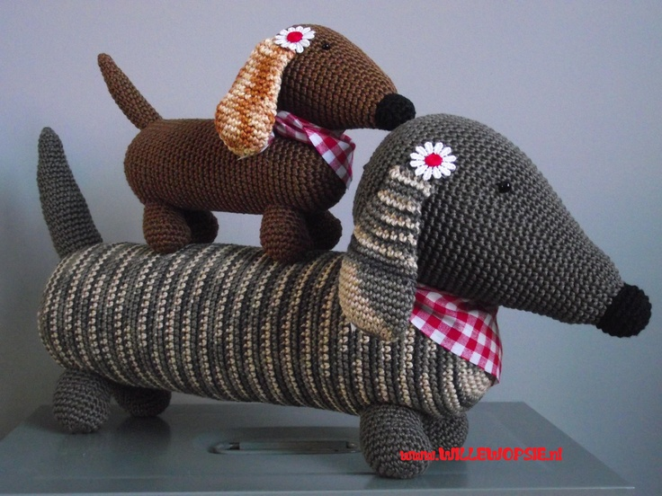 Amigurumi Wiener Dog Pattern : Best amigurumi dogs images crochet toys
