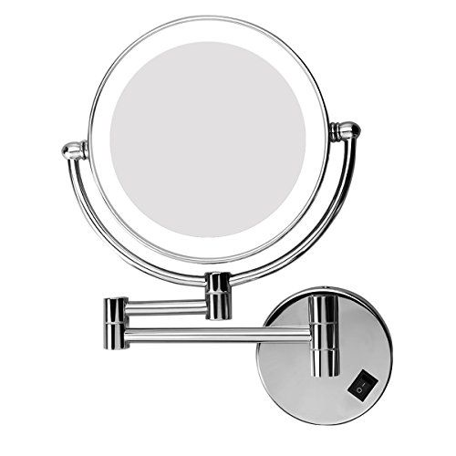 Excelvan LED Make Up Mirror 8 Inch Double Sided Swivel, Lighted Wall Mount Makeup Mirror with 5x Magnification. For product & price info go to:  https://beautyworld.today/products/excelvan-led-make-up-mirror-8-inch-double-sided-swivel-lighted-wall-mount-makeup-mirror-with-5x-magnification/