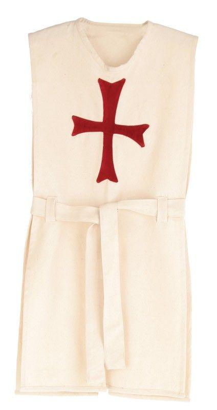 Ridderkleed wit met rood kruis