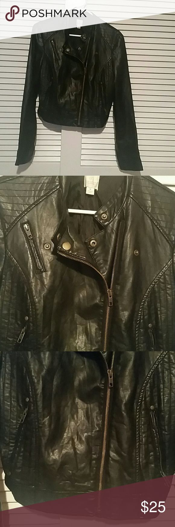 LAURA CONRAD LEATHER JACKET Soft blk leather jacket med. Laura Conrad Jackets & Coats