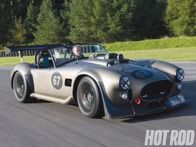 Check out Magnus Jinstrand's V12 Shelby Cobra Kit Car which hails from Sweden and has a blown Mercedes V12 engine providing the power. Only at www.hotrod.com, the official website for Hot Rod Magazine.