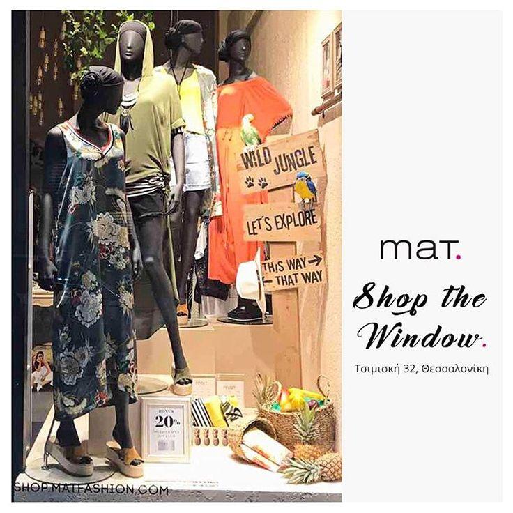 Tropical διάθεση & καλοκαιρινό στυλ ξεχειλίζει μέσα από τη βιτρίνα του νέου #matfashion καταστήματος στην Τσιμισκή 32, στο κέντρο της Θεσσαλονίκης! Εσύ ποιο κομμάτι θα αποκτήσεις; #matsimiski #ss17 #realsize #collection #tropical #fashion #plussizefashion #thessaloniki