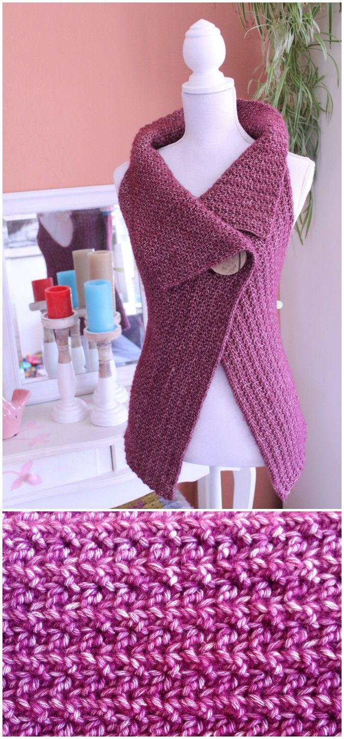 I have rounded up some of the adorable and stunning free crochet cardigan patterns for your inspiration!Cardigan Button Wrap Free Crochet Pattern