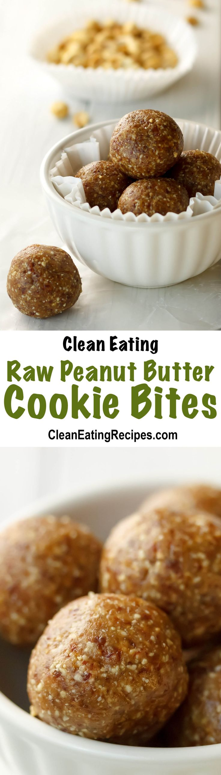 Clean eating raw peanut butter cookie bites recipe for Quick easy healthy dessert recipes