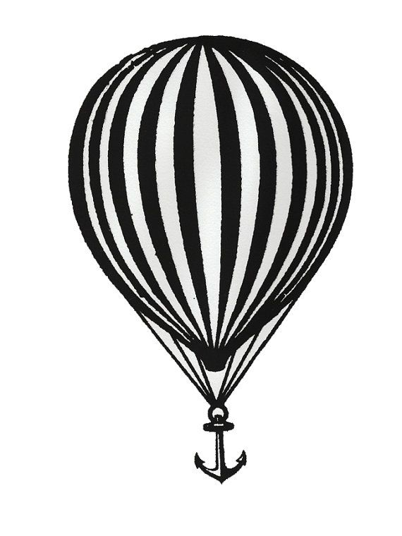 Modest Mouse Balloon and Anchor Screen Print - We Were Dead Before the Ship Even Sank. By milkweedmanorcrafts