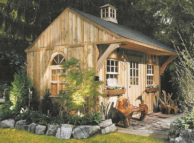 25 best ideas about rustic shed on pinterest country for Backyard cottage designs