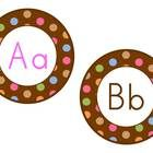 I created round headers using my chocolate with colorful polka dots background.  These headers are 5 inches round with chocolate brown font for con...