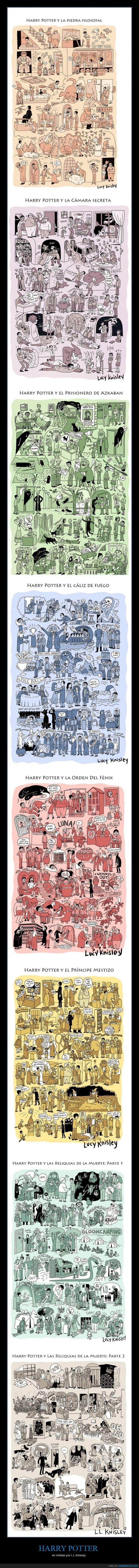 Harry Potter muy bien resumido - en viñetas por L.L Kinisley