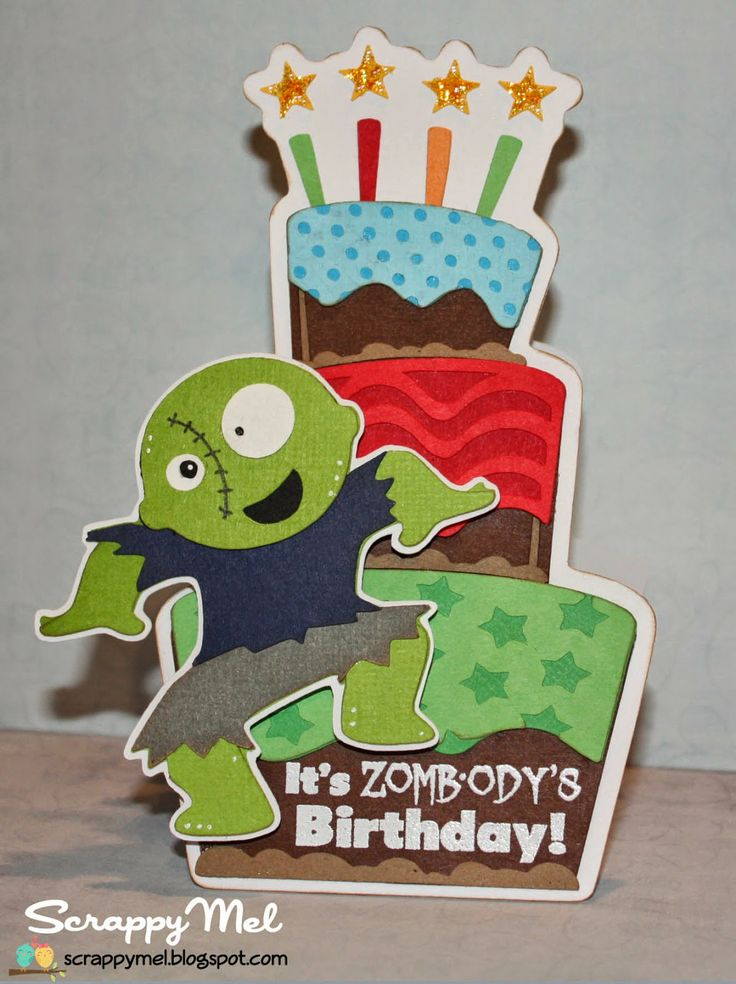 Zombies birthday cards and on pinterest