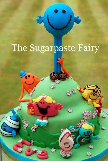 Mr Men Cake by SugarpasteFairy