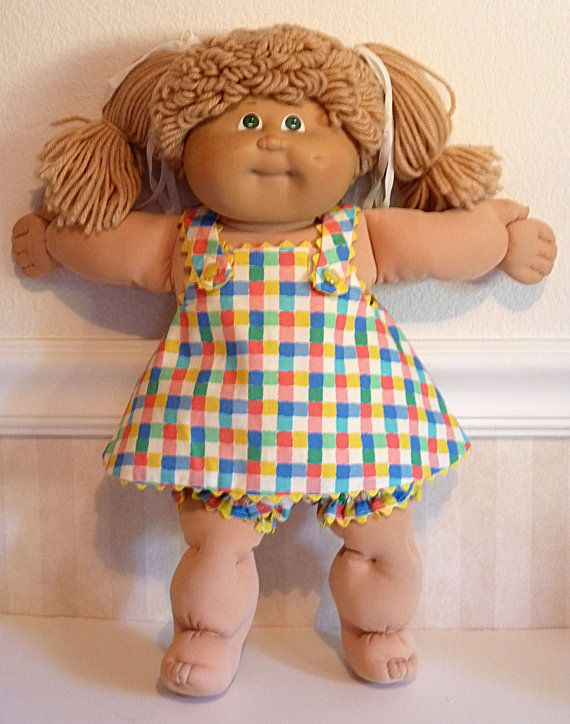 Checkered 3pc Jumper Set Cabbage Patch Kids by DressingDollies