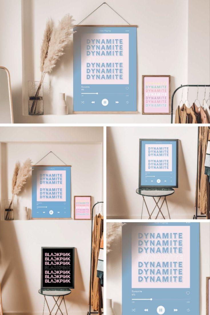 BTS Dynamite Spotify Song Poster Printable Typography Art   Etsy in 2020   Etsy digital prints ...