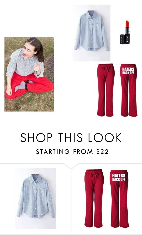 """miranda sings inspired outfit!"" by sarahmae-2307 ❤ liked on Polyvore featuring NYX"