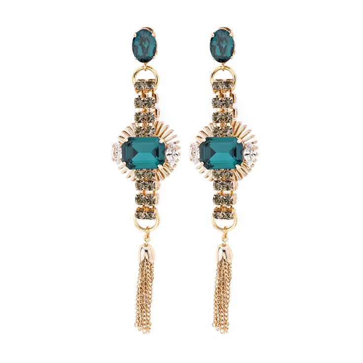 The Barbarella earrings feature dazzling tassels with graceful movement #antonheunis10