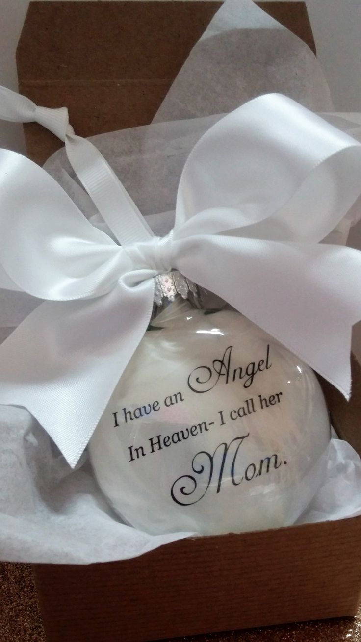 Ornaments for loved ones lost - Mother Memorial Ornament In Memory Of Mama At Christmas Angel In Heaven I