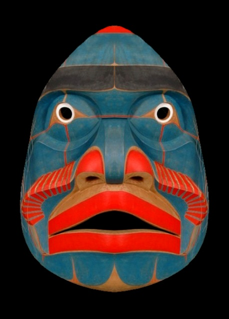 Bella Coola Komokwa Mask, Kwaguilth, Native American