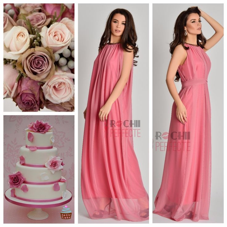 Perfect bridesmaides dusty pink dresses