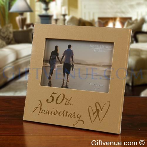 50th Golden Wedding Anniversary Frame. Gifts for a 50th wedding anniversary