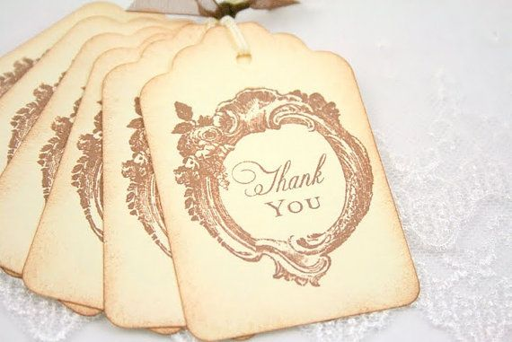 vintage wedding favor gift tags