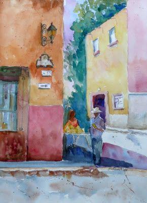 Nancy Standlee Fine Art: Mel Stabin Watercolor Workshop ~ Student Paintings, part 2