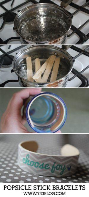 DIY Popsicle Stick Bracelets Kid Craft Tutorial