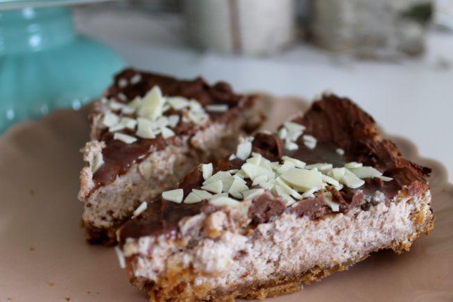 No bake Kinder-Choco-fresh Kuchen
