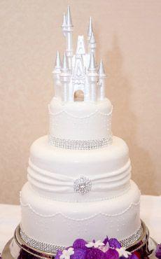 Inspiration Gallery | Disney Fairy Tale Weddings and Honeymoon #cinderella #castle #cake