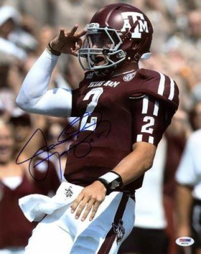 Johnny Manziel Autographed Texas A+M Aggies 11x14 Photograph - Sports Memorabilia
