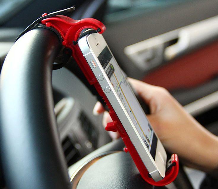 New arrive mini car steering wheel mount holder for iphone 6 samsung GPS mp4 mobile phone holder
