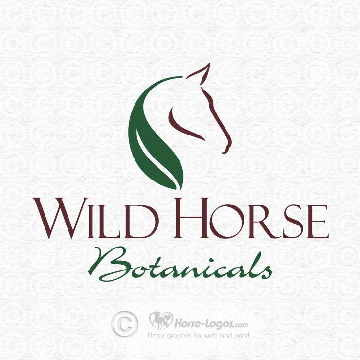Custom horse logo design created for Wild Horse Botanicals. You can purchase your own custom logo at Horse-Logos.com #horse #art #logo #equine #graphic #equestrian #design #brand #branding #identity #botanicals