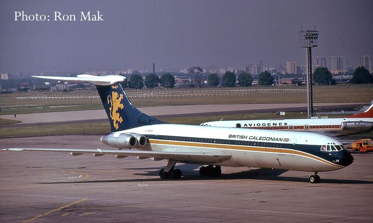 British Caledonian VC10 G-ASIX - Seeing further service with Air Malawi, before being retired in 1979. G-ASIX was sold to the Sultan of Oman as VIP transport and is now preserved at the Brooklands museum upon its retirement in 1987.