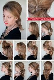 Simple 1970s ponytail